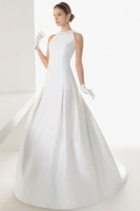 Schlichtes Brautkleider