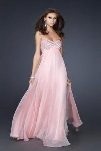 Schönes Pink Langes A Linie Abendkleider