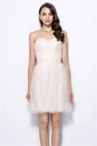 Schönes Rosa Kurzes Sweetheart A Linie Abendkleider Online