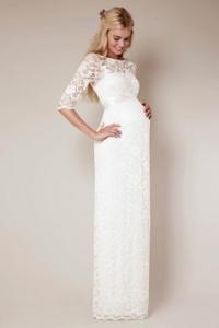 Elegantes Brautkleid für Schwangere mit Ärmeln
