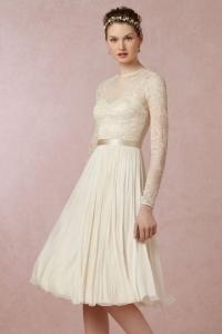 Schönes Ivory Knielanges Brautkleid