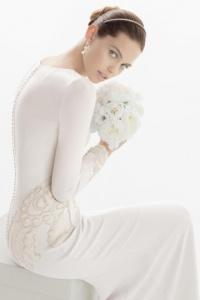 Schönes Ivory Brautkeider mit Ärmeln