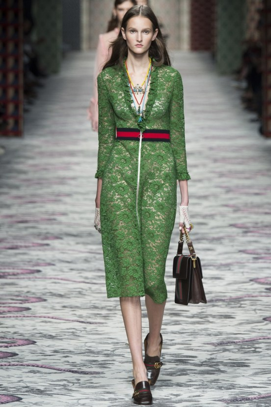 Spitze-Grün-Knielag-Abendkleid